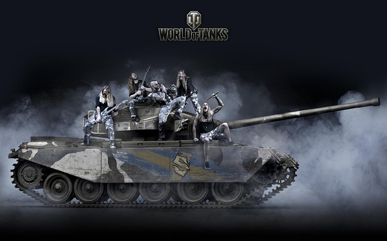 Pictures WOT Tanks Men Strv 81, Sabaton, Primo Victoria vdeo game World of Tanks tank Man Games