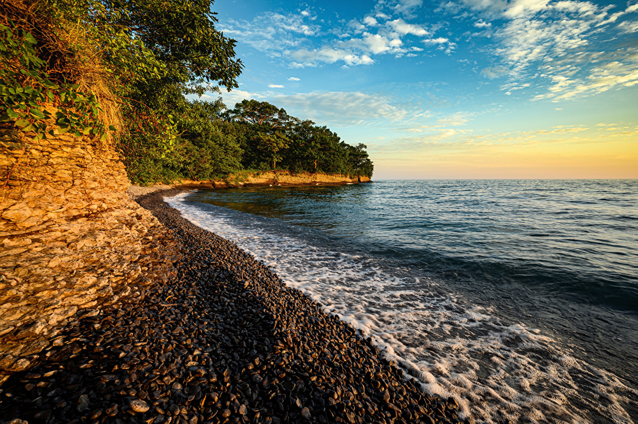 Image Canada Ontario Rock Nature Waves Coast stone Crag Cliff Stones