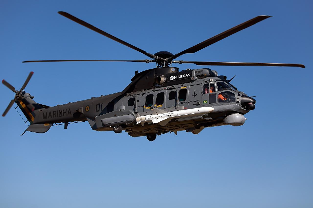 Foto Hubschrauber Airbus H225M MBDA AM39 Exocet Brazilian Navy Luftfahrt