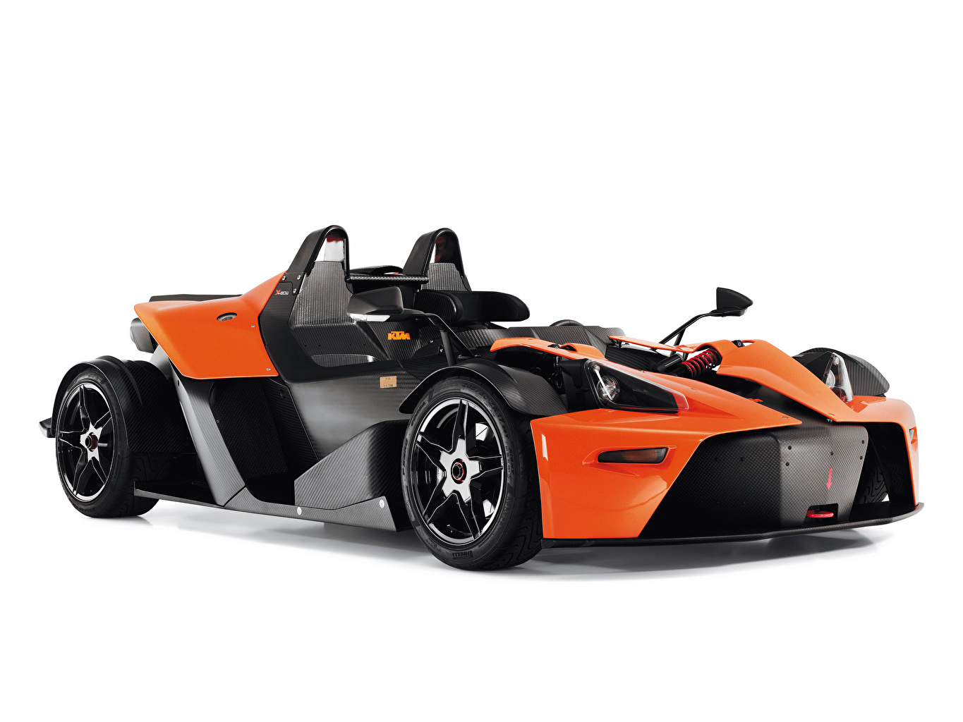 Wallpaper KTM Cars Carbon fiber 2008-18 X-Bow Clubsport Orange automobile White background reinforced polymer plastic auto Cars