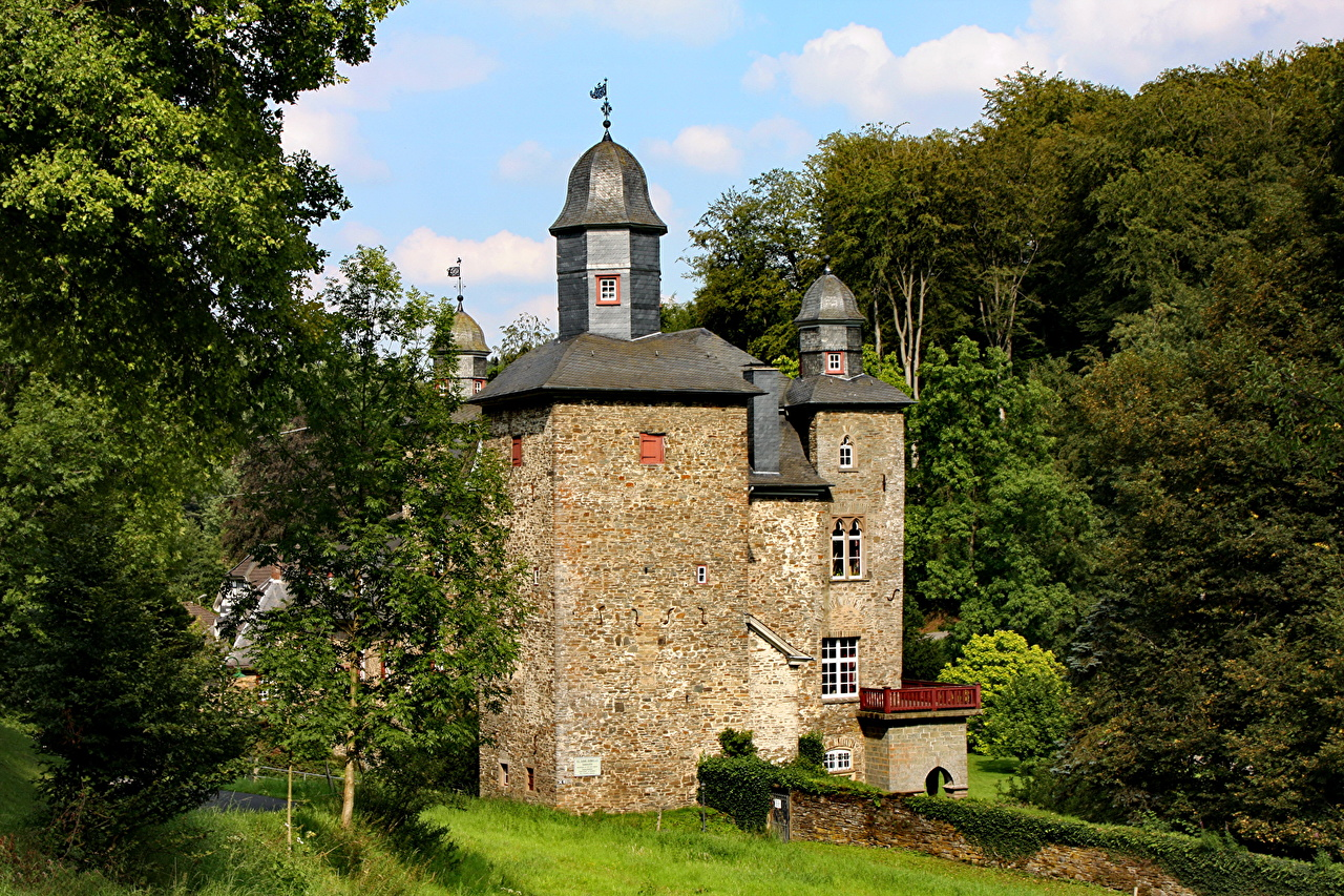 Picture Germany Marienheide Gimborn castle Made of stone Cities Castles