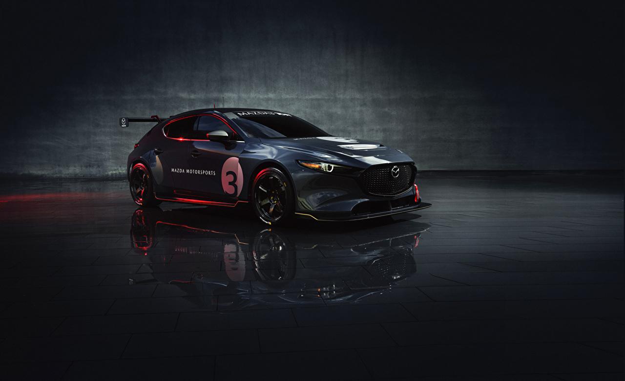 Fotos von Mazda Fahrzeugtuning 2020 Mazda3 TCR Grau auto Metallisch Tuning graue graues Autos automobil
