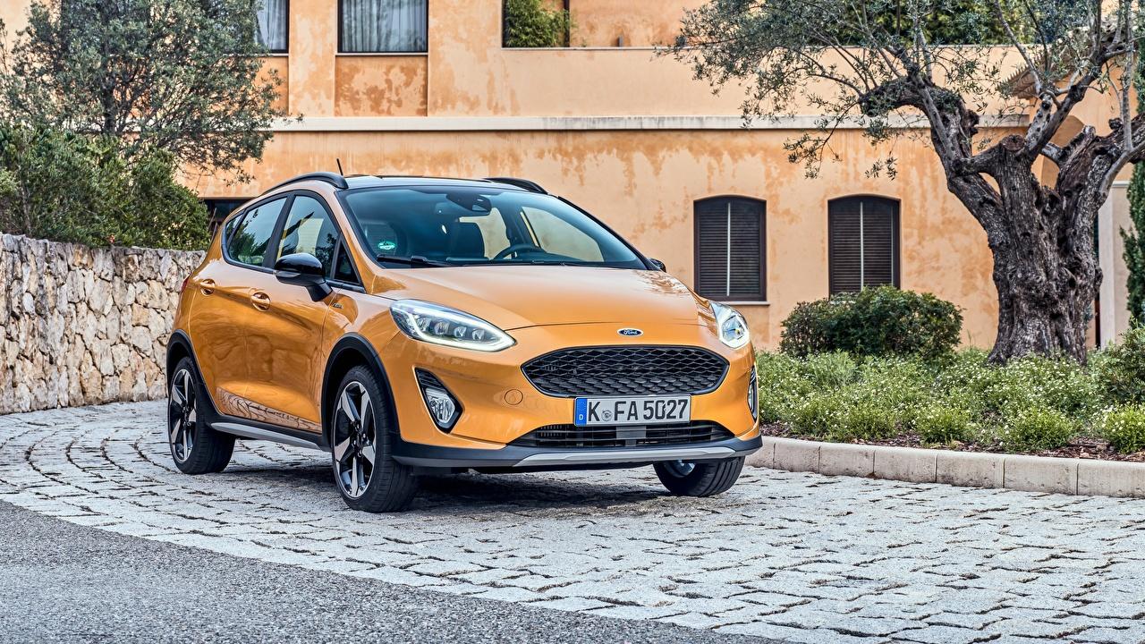 Image Ford Fiesta Active 2018 Orange auto Metallic Cars automobile