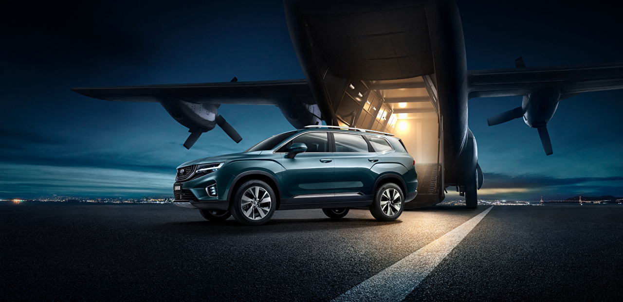 Wallpaper Geely Crossover 2020-21 Hao Yue Green auto CUV Cars automobile
