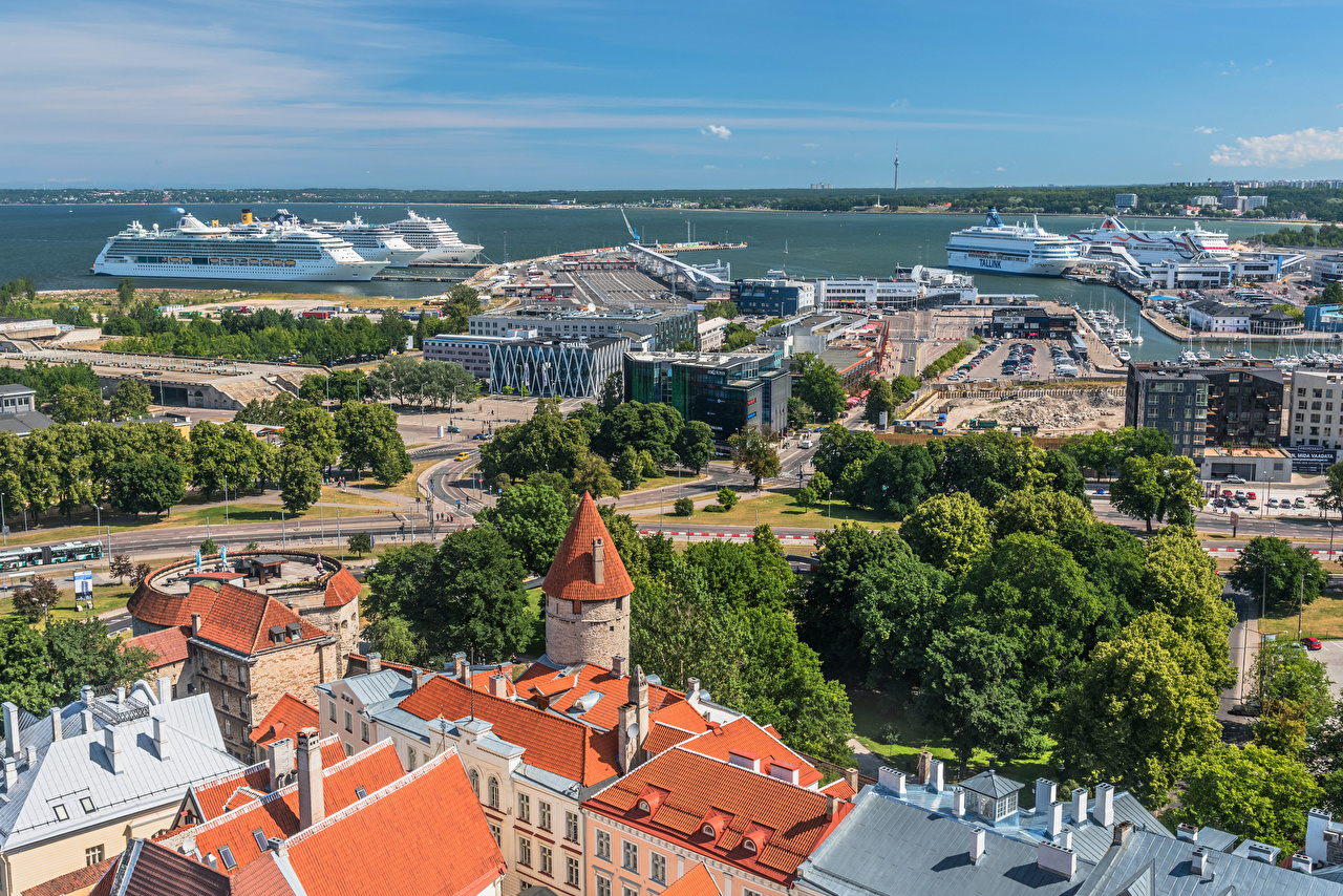 Estonie Maison Quai Navire de croisière Tallinn Harbour Bâtiment, Estacade Villes