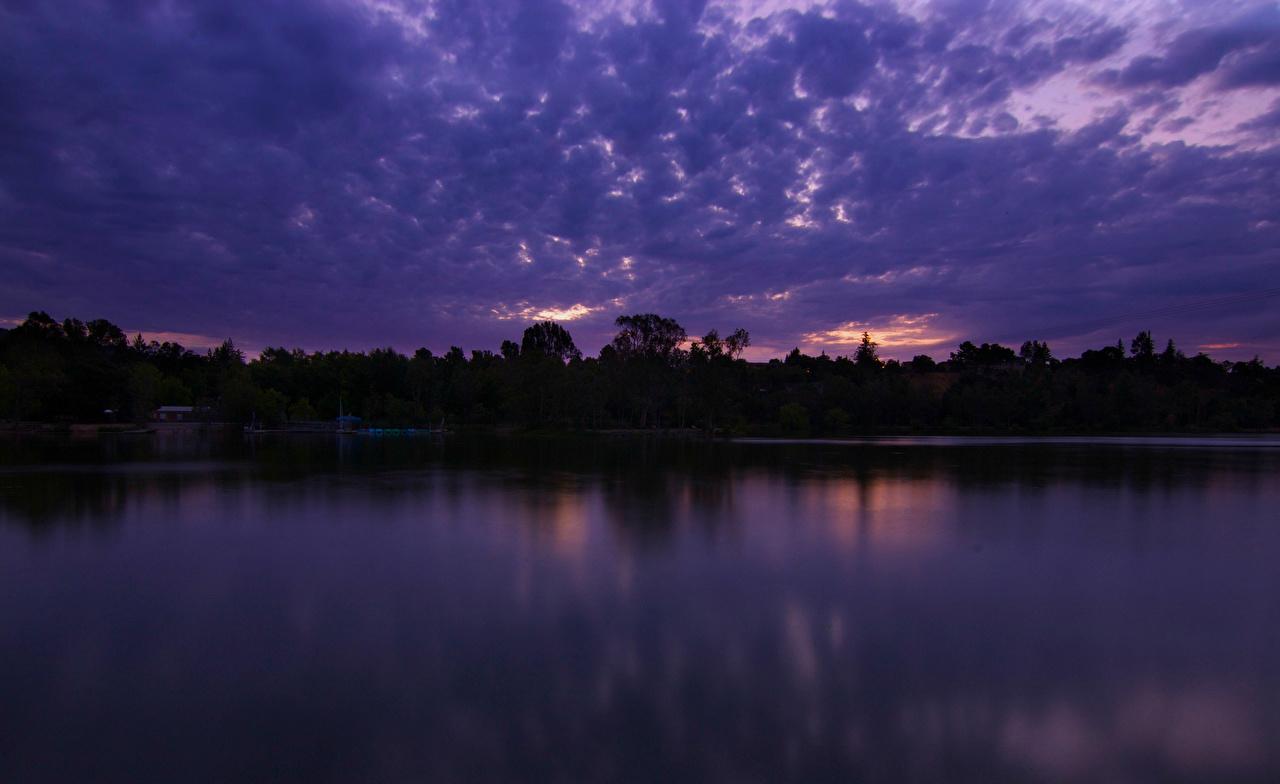 Wallpaper California USA Nature Sky Lake Night Clouds night time