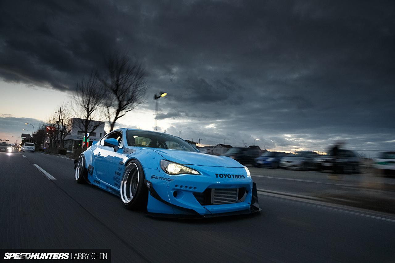 Wallpaper Toyota Gt86 Scion Fr S Subaru Brz Light Blue Automobile