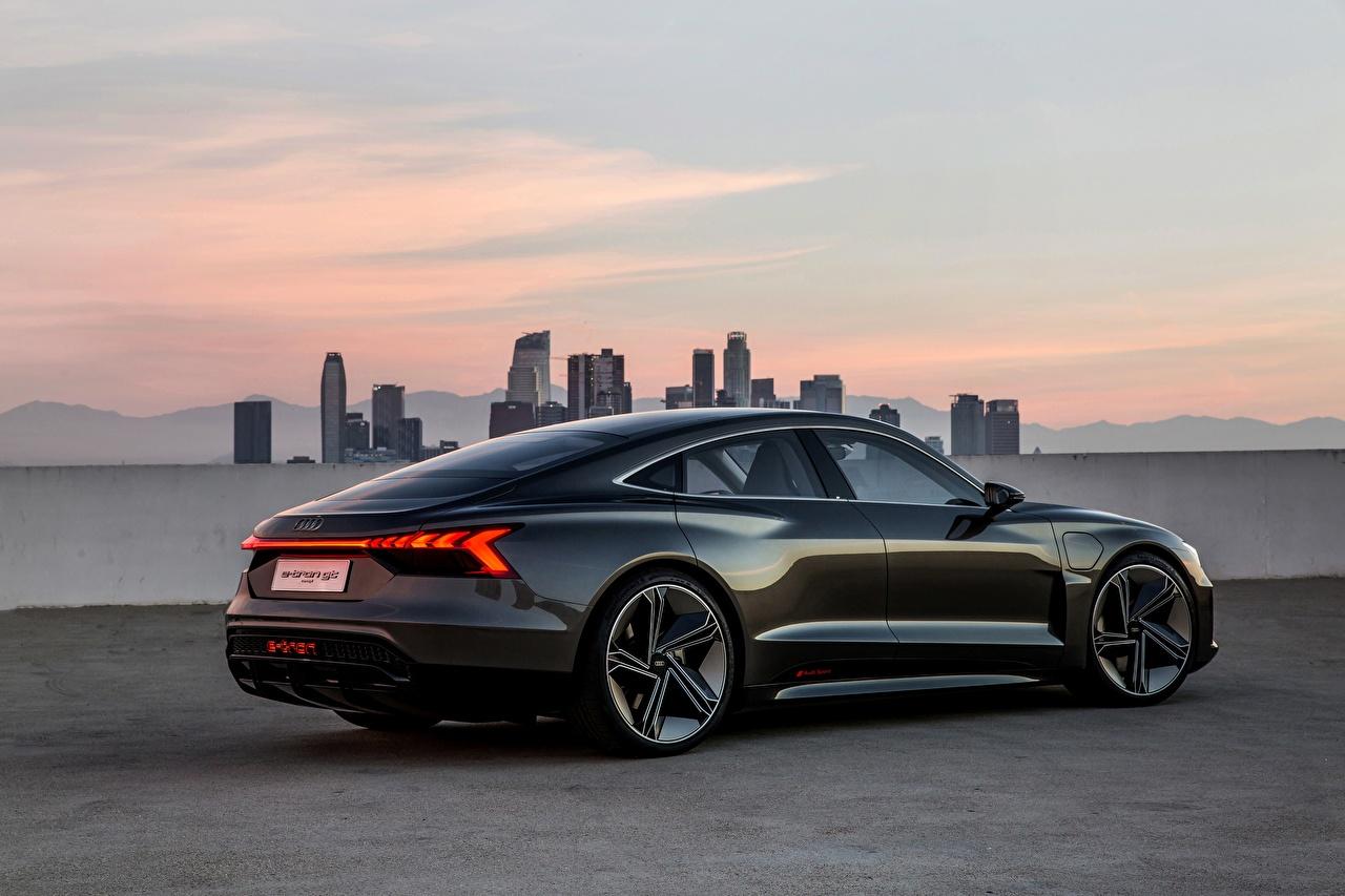 Photos Audi 2018 e-tron GT Concept Coupe Black Cars auto automobile