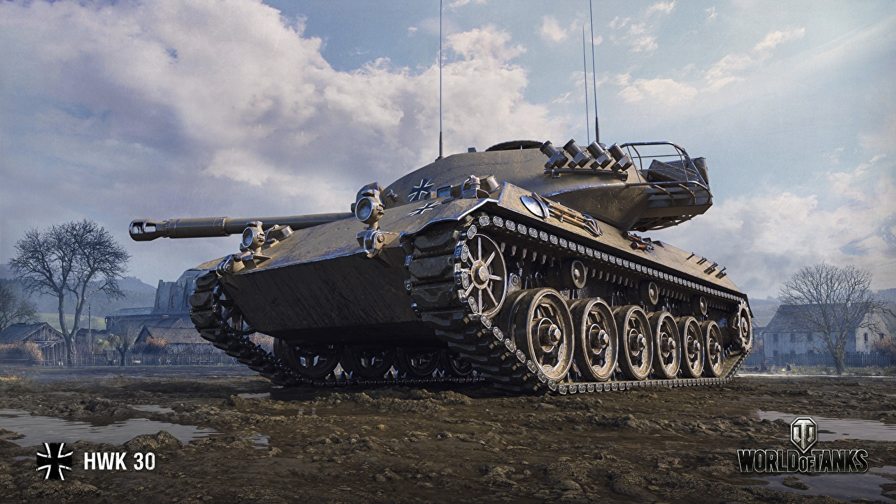 Pictures Games tank World of Tanks HWK 30 German vdeo game Tanks WOT