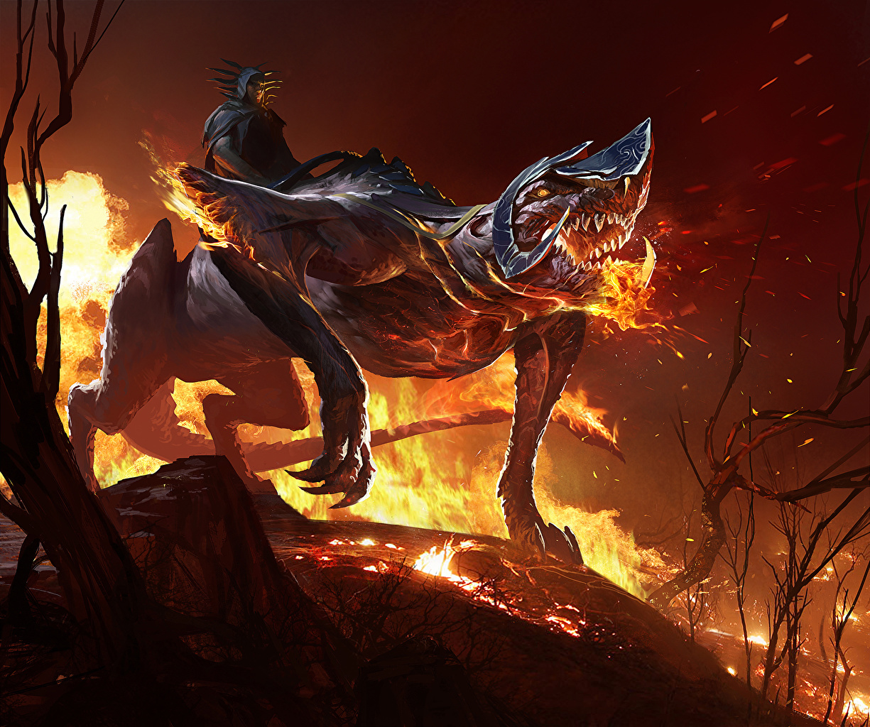 Photo sorcery Monsters Fantasy flame Magic monster Fire