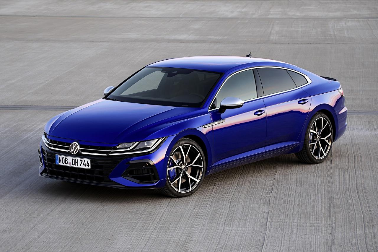 Photo Volkswagen Arteon, R-Line, 2020 Blue Cars Metallic auto automobile