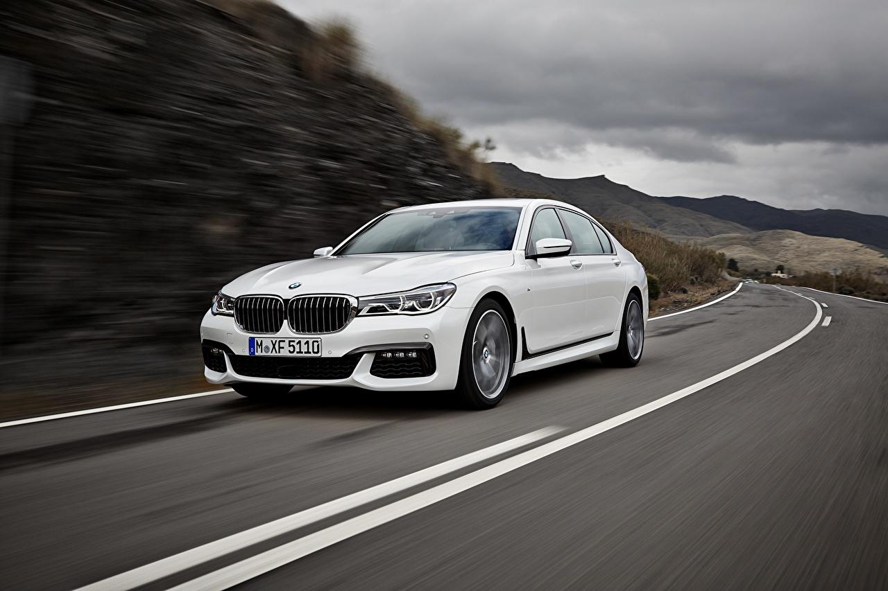 Desktop Wallpapers BMW 7 G11 / G12 White Roads automobile Cars auto