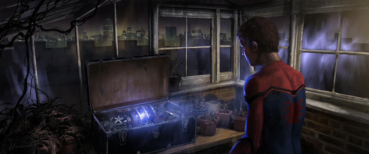 Images Spider-Man: Homecoming superheroes Spiderman hero Tom Holland Movies Heroes comics film