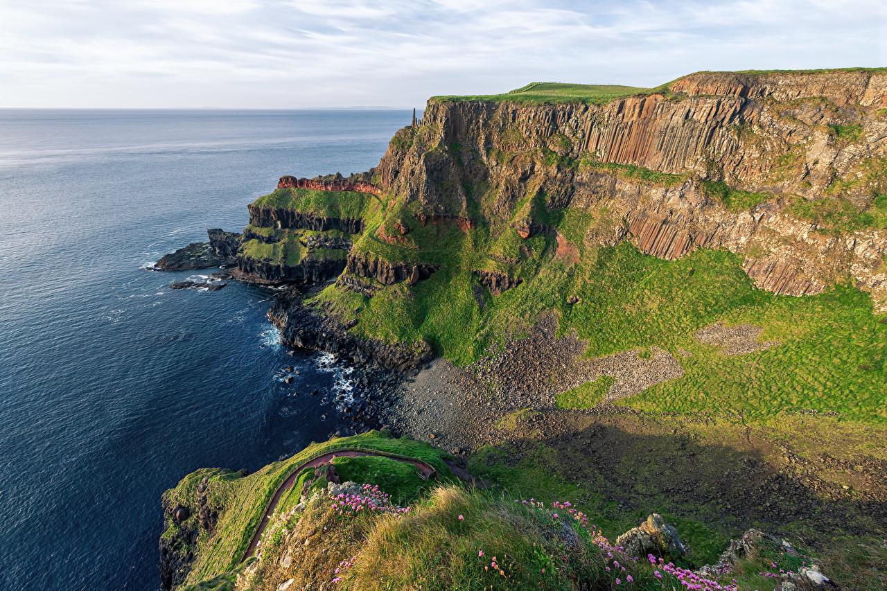 Foto Irland Giants Causeway Ozean Natur Felsen Küste