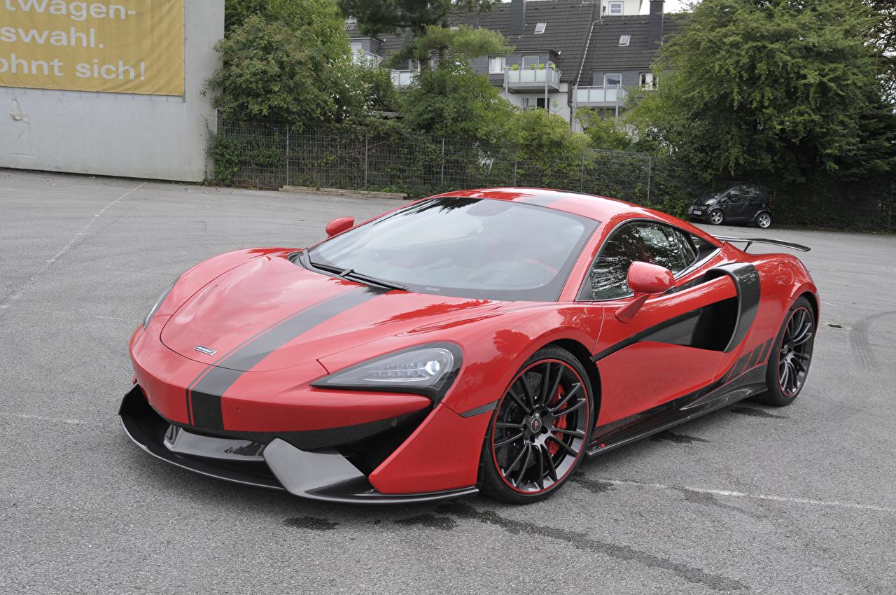 2017-20 Manhart McLaren 570S Vermelho Metálico carro, automóvel, automóveis Carros