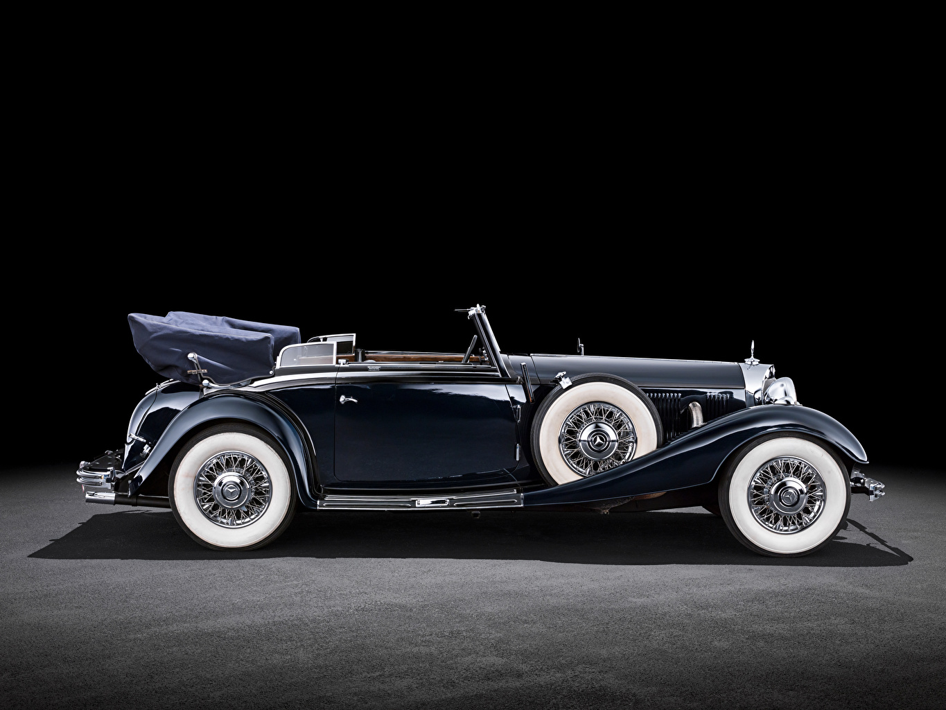 Photos Mercedes-Benz Convertible vintage Side Cars Cabriolet Retro antique auto automobile