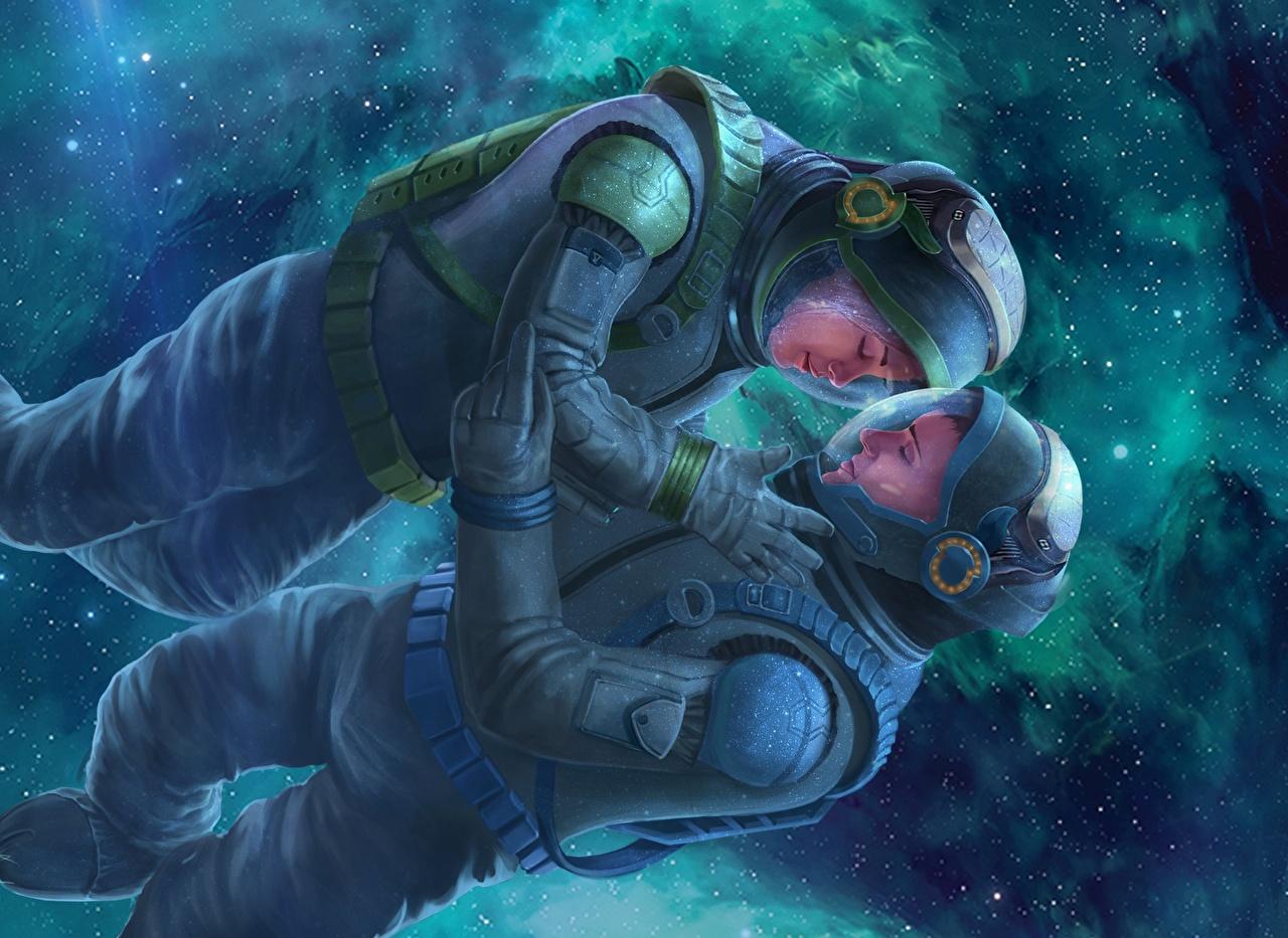 Photo Cosmonauts Alkion Book Cover Two Love Space Fantasy astronaut cosmonaut 2