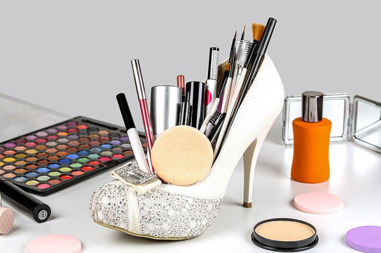 Images pencil Paintbrush powder Stilettos Cosmetics Pencils high heels