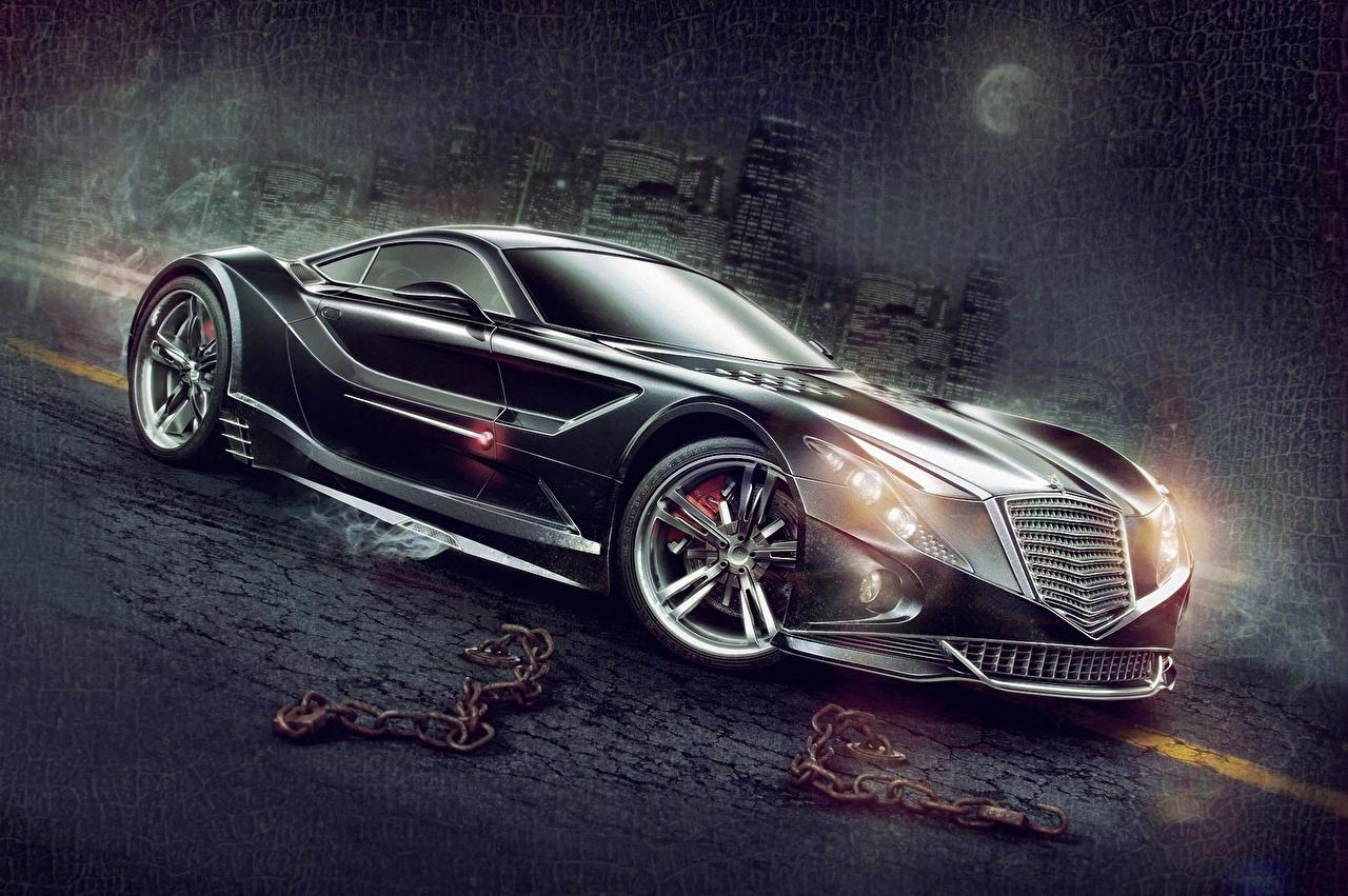 Desktop Wallpapers expensive Black Cars Night Luxury luxurious auto night time automobile