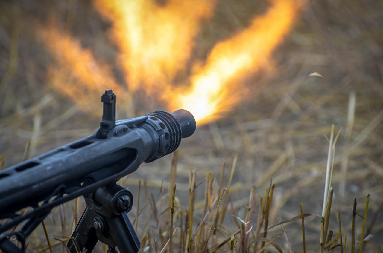 Images Firing Machine guns MG-42 Fire military