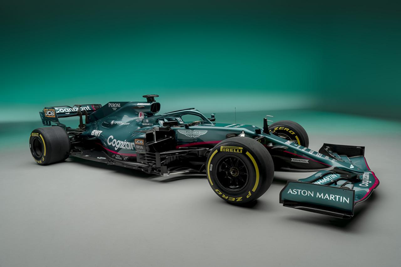 Tapety Aston Martin AMR21, 2021 Zielony sportowe Formula 1 samochód Widok z boku Sport sportowy Samochody