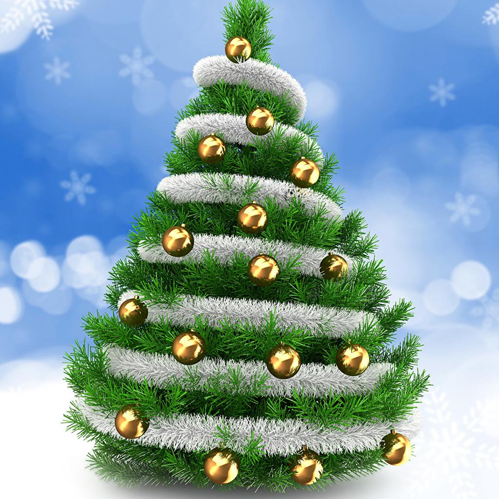 Photos Christmas Christmas tree Balls New year New Year tree