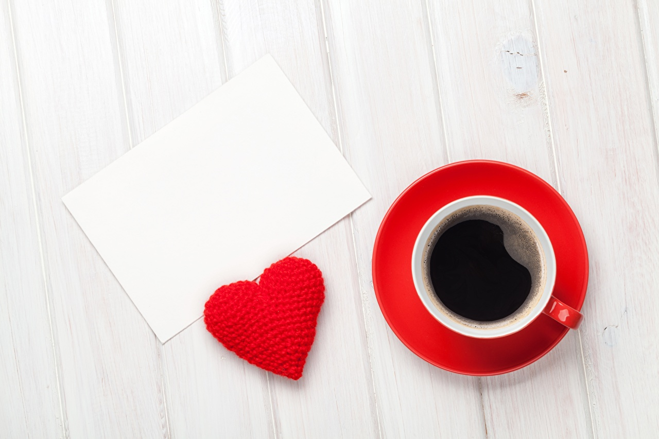 Photo Valentine's Day Heart Coffee Cup Template greeting card