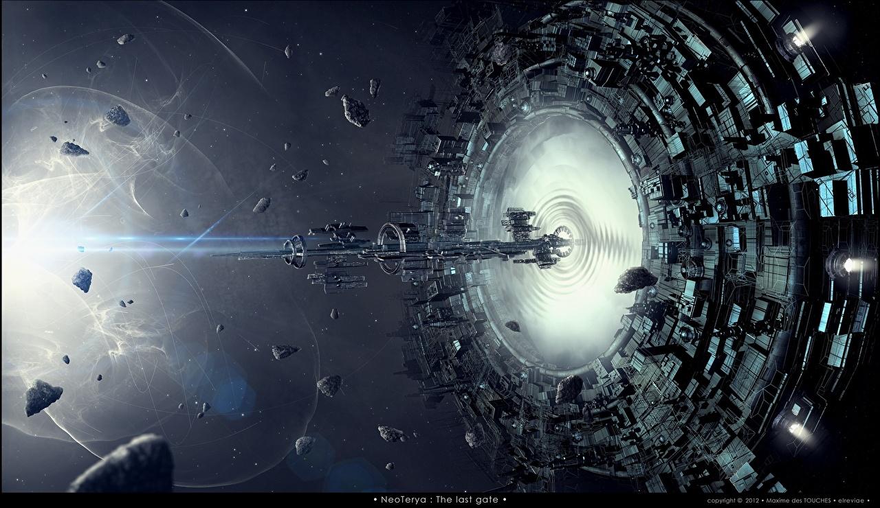 Wallpaper Space Fantasy ship Technics Fantasy Ships