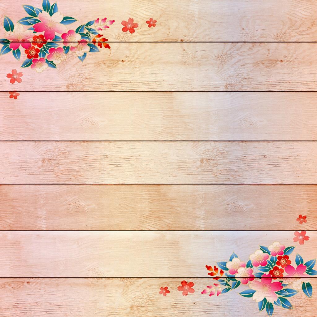 壁紙 描かれた壁紙 木の板 テンプレートグリーティングカード 花