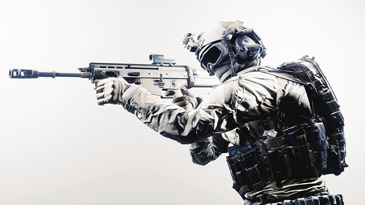 壁紙 兵 アサルトライフル ミリタリーヘルメット バトルフィールド4 眼鏡 アメリカの ゲーム 3dグラフィックス ダウンロード 写真