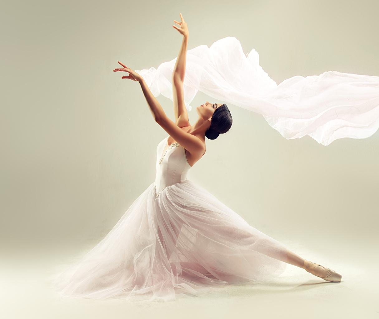 Wallpaper Brunette girl Ballet Girls Hands Dress gown frock