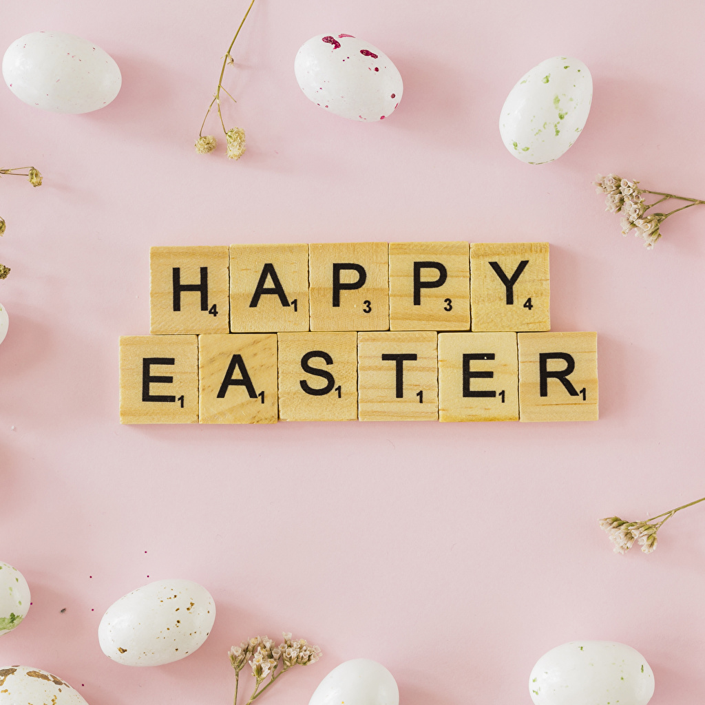 Images Easter Eggs Pink background English Food Word - Lettering egg text lettering