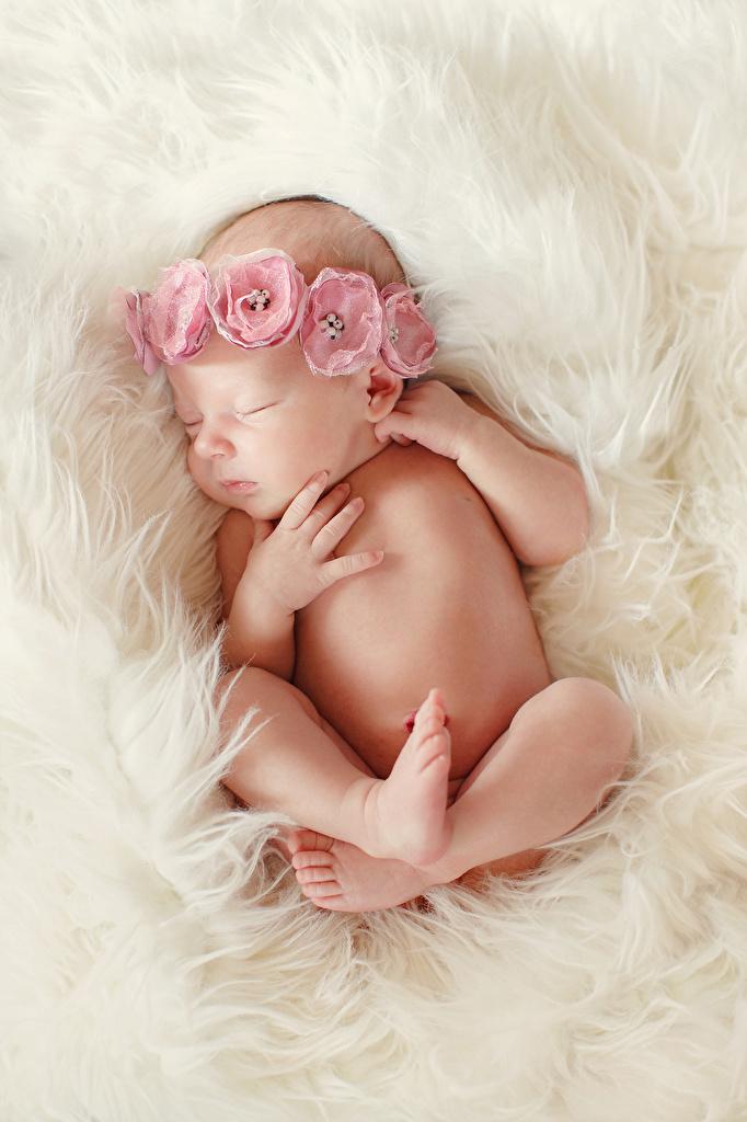 Foto Baby Kinder schläft Bein Hand Säugling Schlaf schlafen schlafende schlafendes