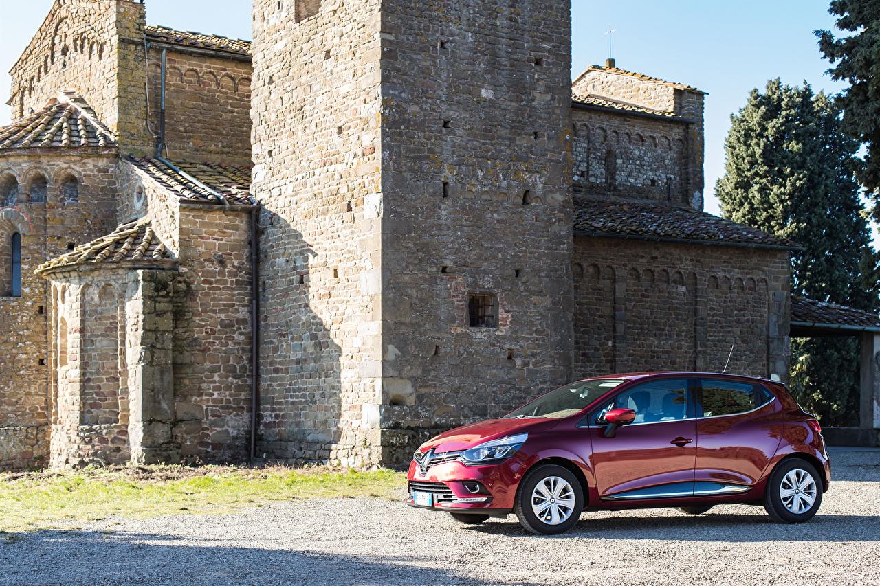 Desktop Wallpapers Renault 2016-17 Clio Worldwide Red auto Metallic Cars automobile
