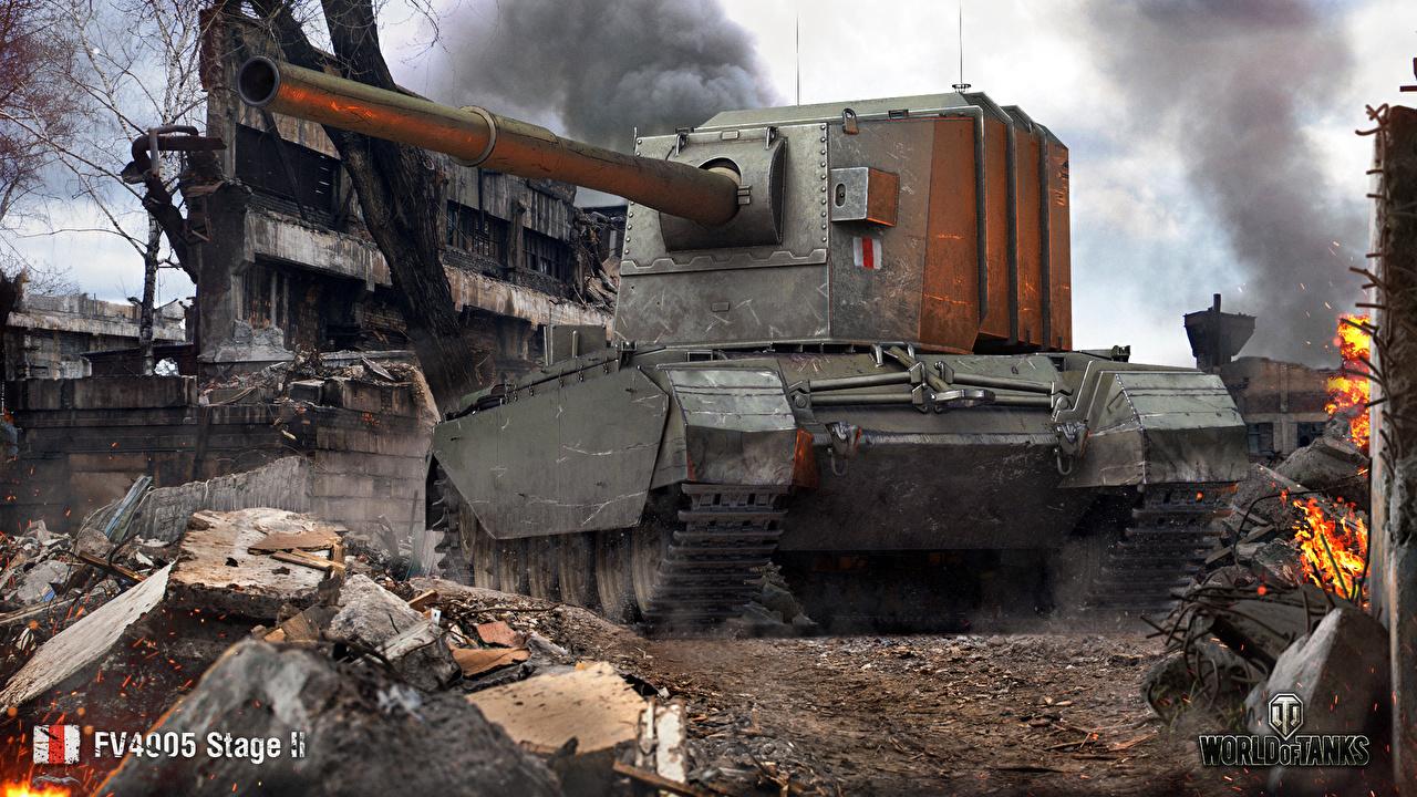 Foto WOT Selbstfahrlafette britischer FV4005 Stage II Spiele World of Tanks Britisch britische britisches