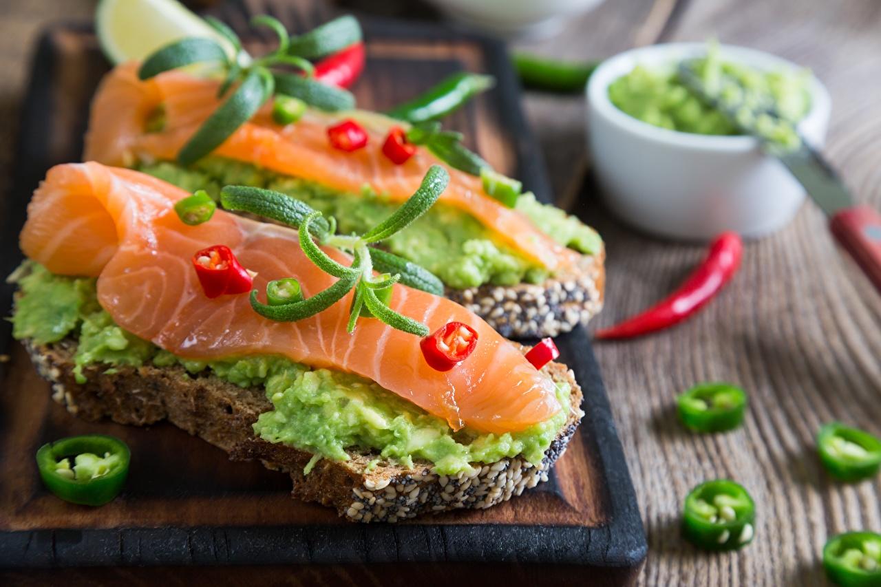 Wallpaper Salmon Butterbrot Fish - Food Food