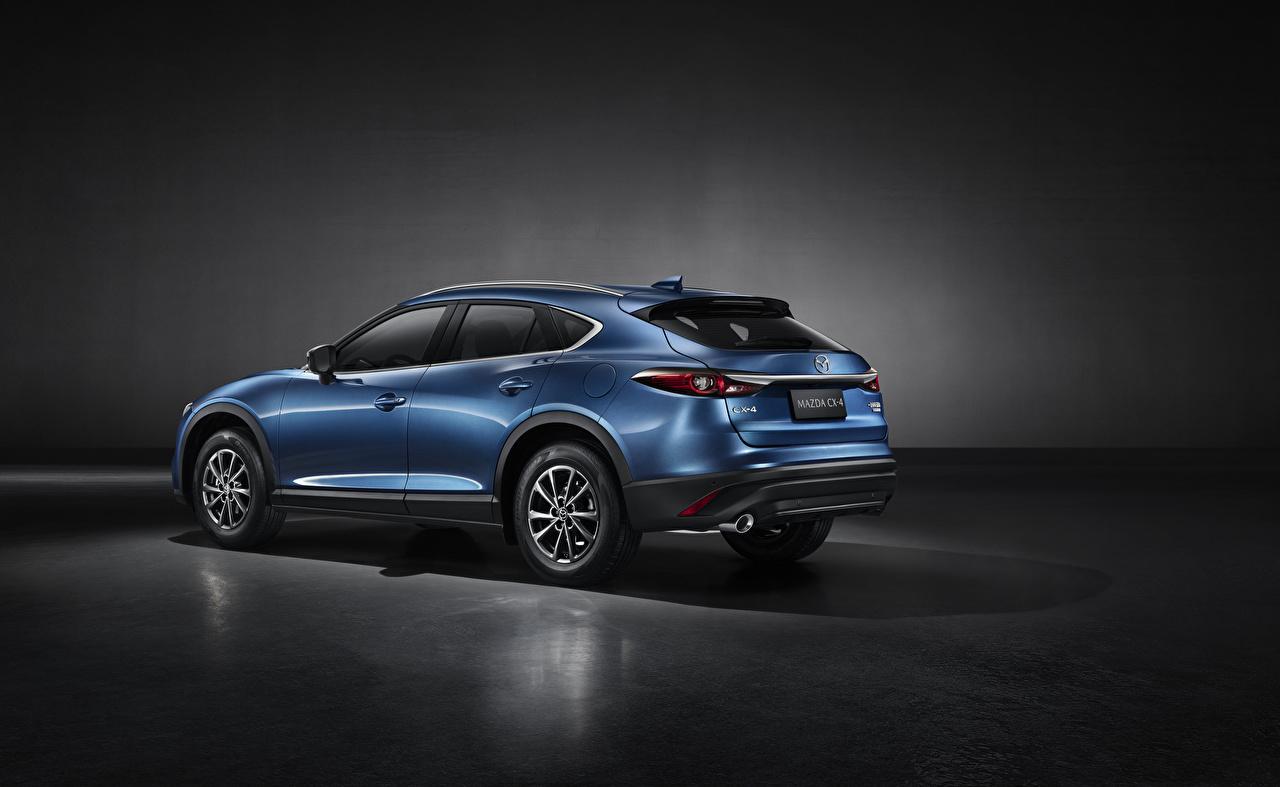 Fotos Mazda Softroader CX-4, 2019 Blau auto Metallisch Crossover Autos automobil