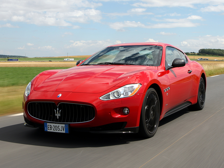 Pictures Maserati GranTurismo S MC Sport Line Red Cars Front Headlights auto automobile