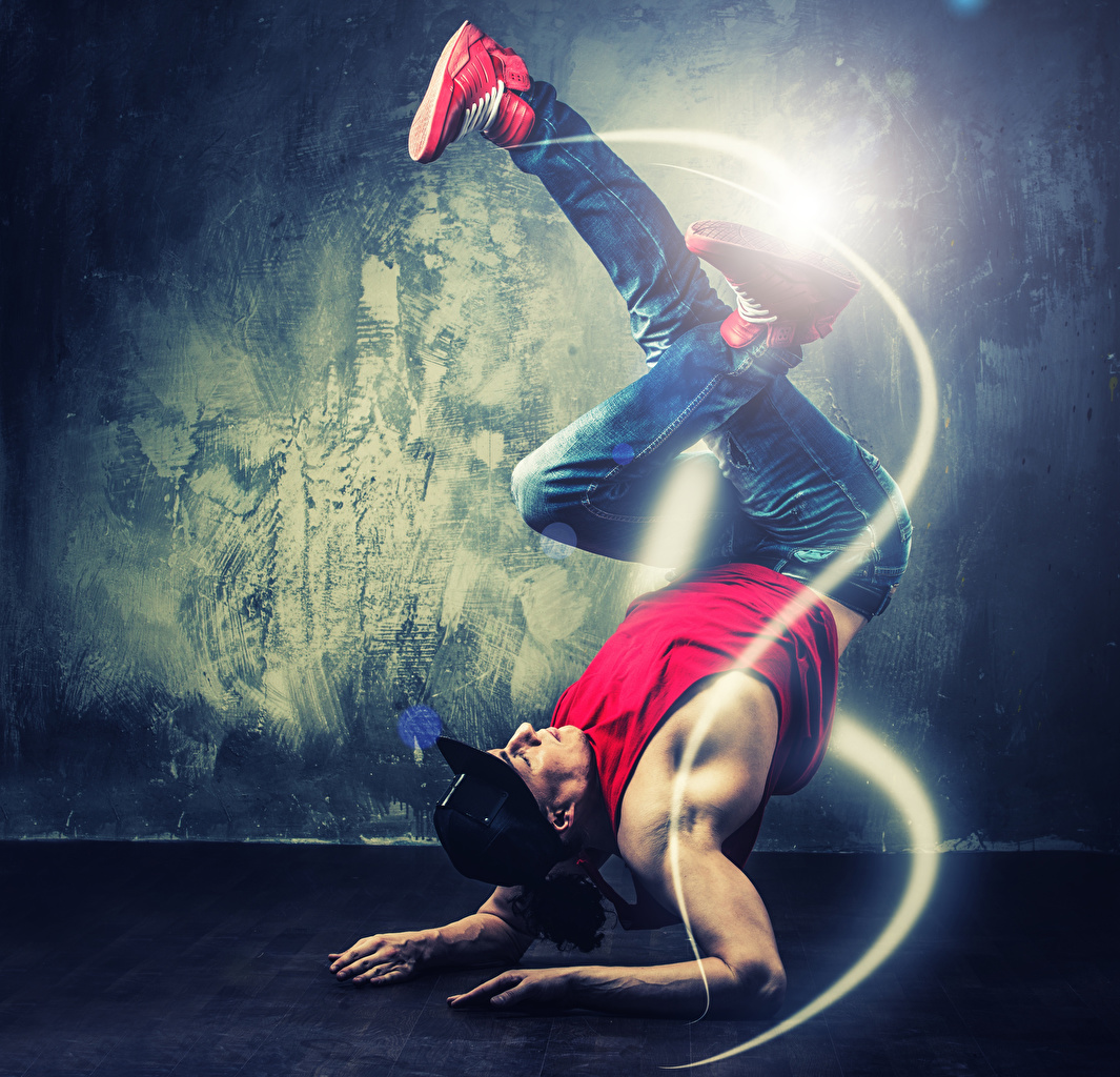 Bilder von Mann Tanz Bein Hand Baseballcap Tanzen baseballkappe baseballmütze