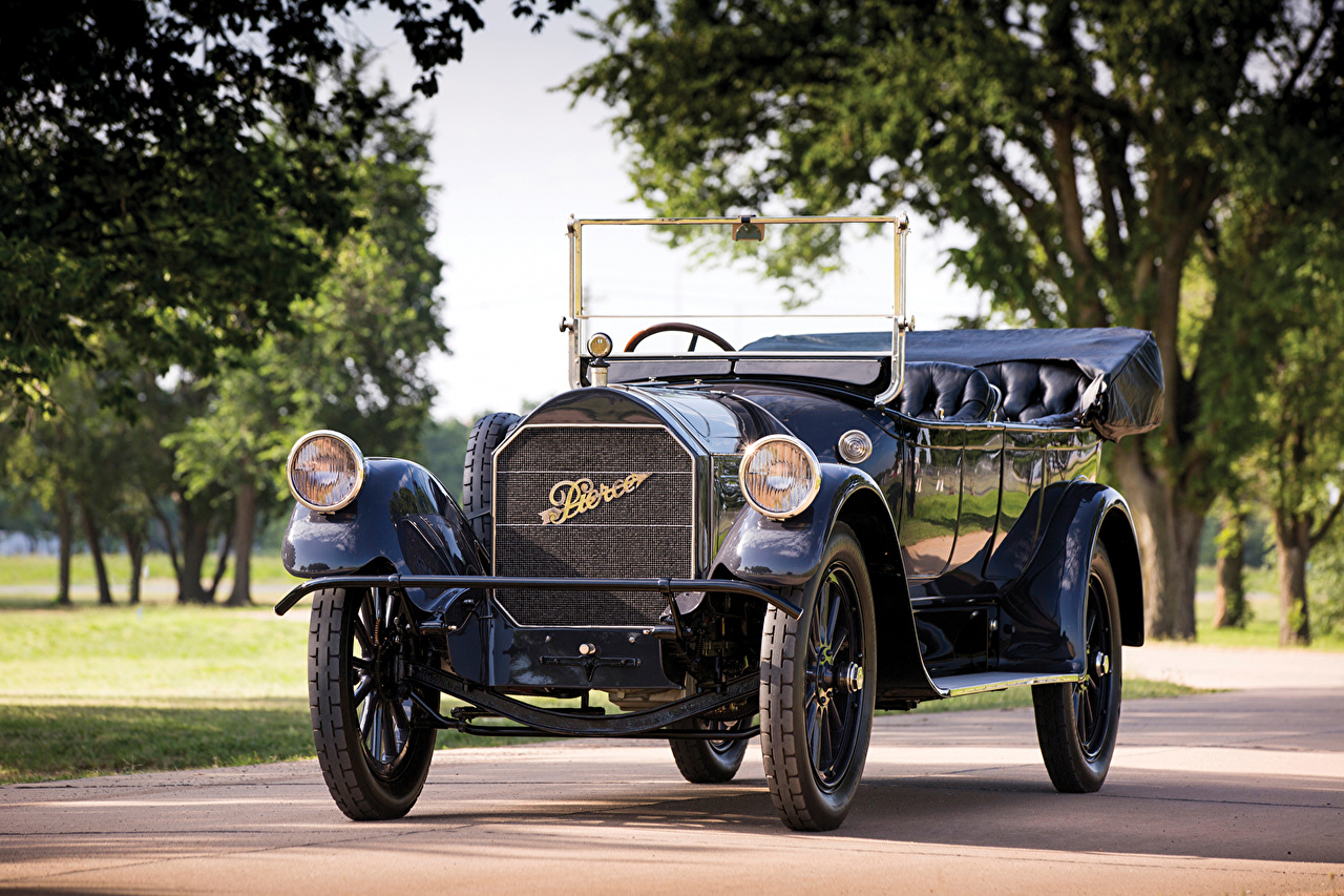 Photos 1916 Pierce-Arrow Model 66-A 7-passenger Touring Retro Metallic automobile vintage antique Cars auto