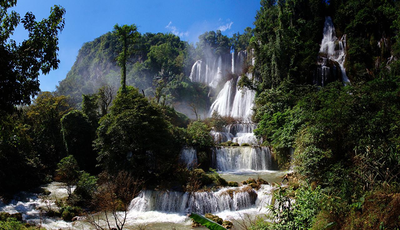 Bilde Thailand Huay Mae Khamin Waterfall Natur fosser Trær En foss
