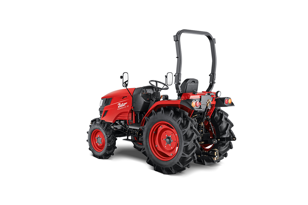 Desktop Wallpapers Tractor Zetor Compax CL 35, 2020 Red White background tractors