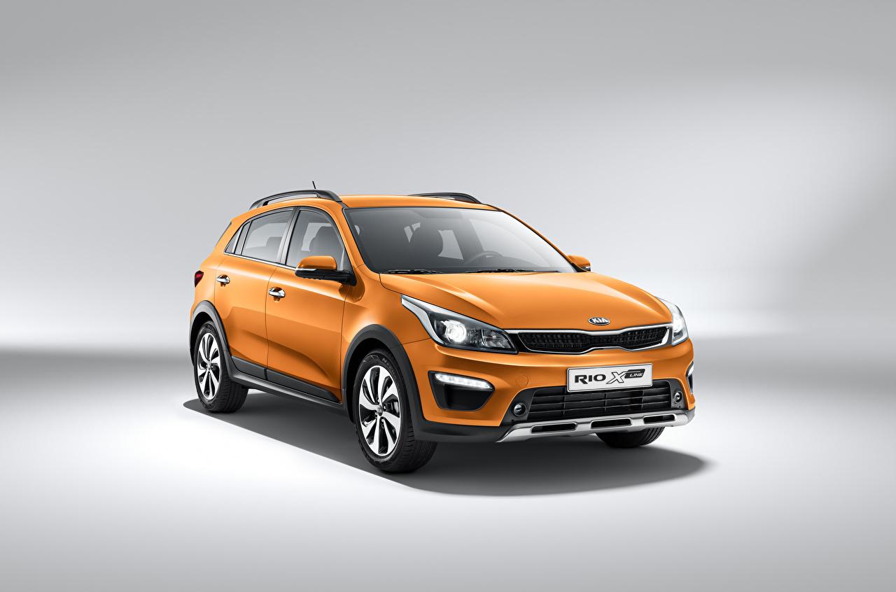 Picture KIA Crossover Orange auto Metallic CUV Cars automobile