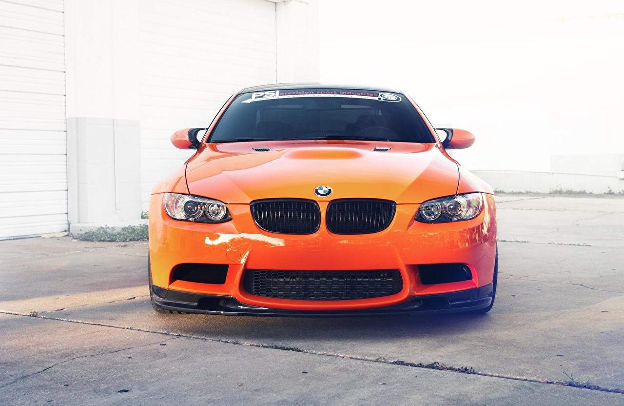 Images BMW m3 e92 Orange Front Metallic automobile auto Cars
