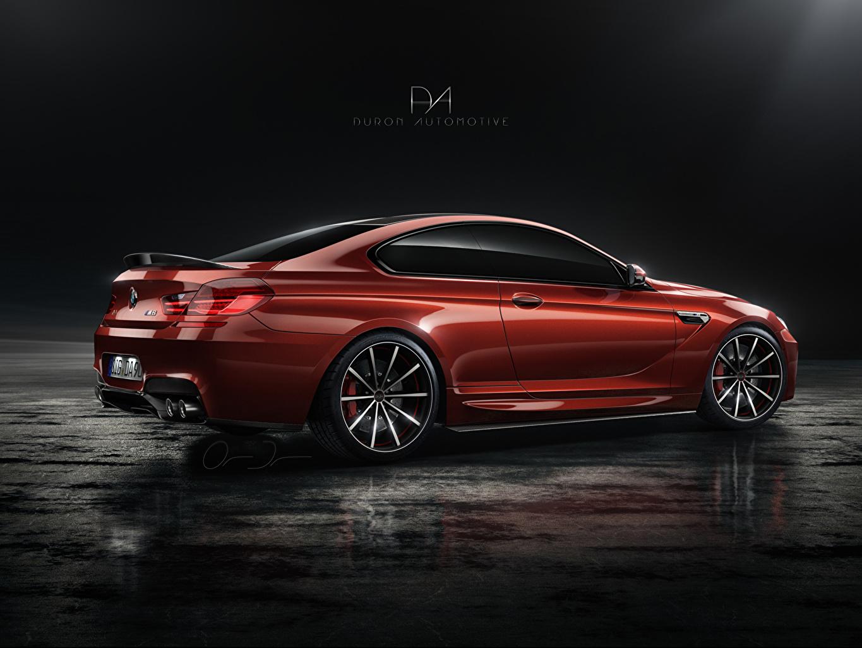 Desktop Wallpapers BMW m6 tuning Duron Automotive Red Side auto Metallic Cars automobile