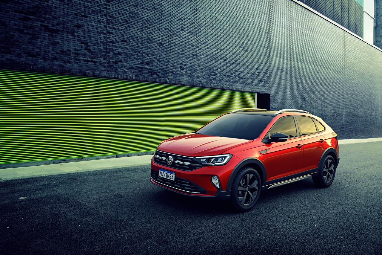 Wallpaper Volkswagen 2020 Nivus 200 TSI Latam Red auto Cars automobile