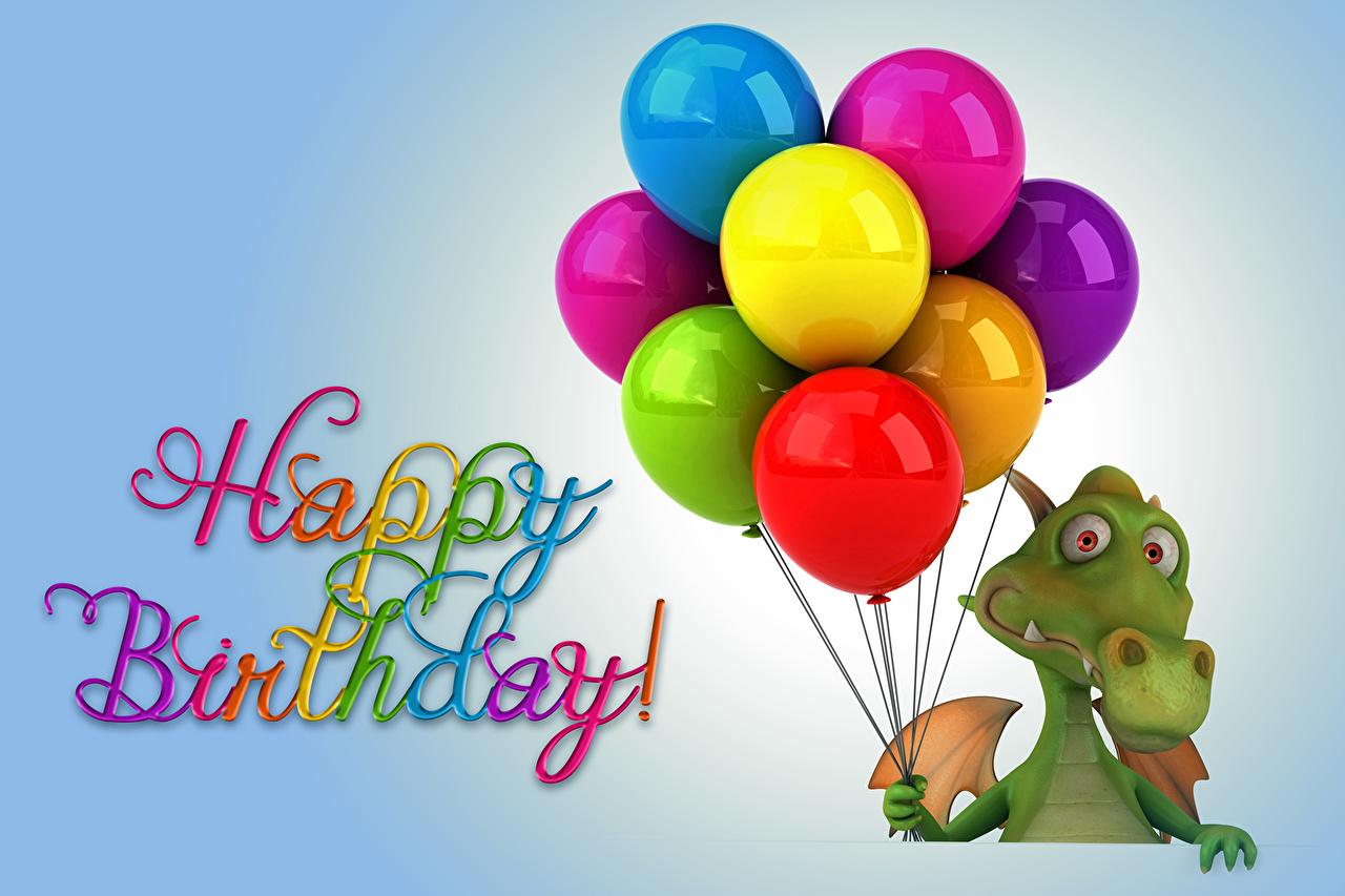 Image Birthday Dragons Toy balloon 3D Graphics Animals Holidays dragon balloons animal