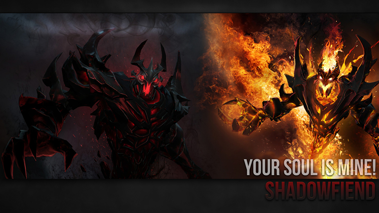Pictures DOTA 2 Shadow Fiend demon monster Fantasy flame Games Demons Monsters Fire vdeo game