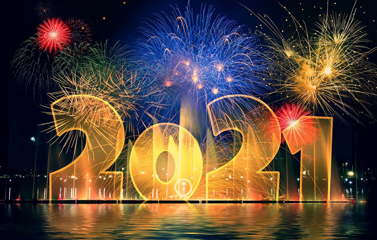 Fotos 2021 Neujahr Feuerwerk
