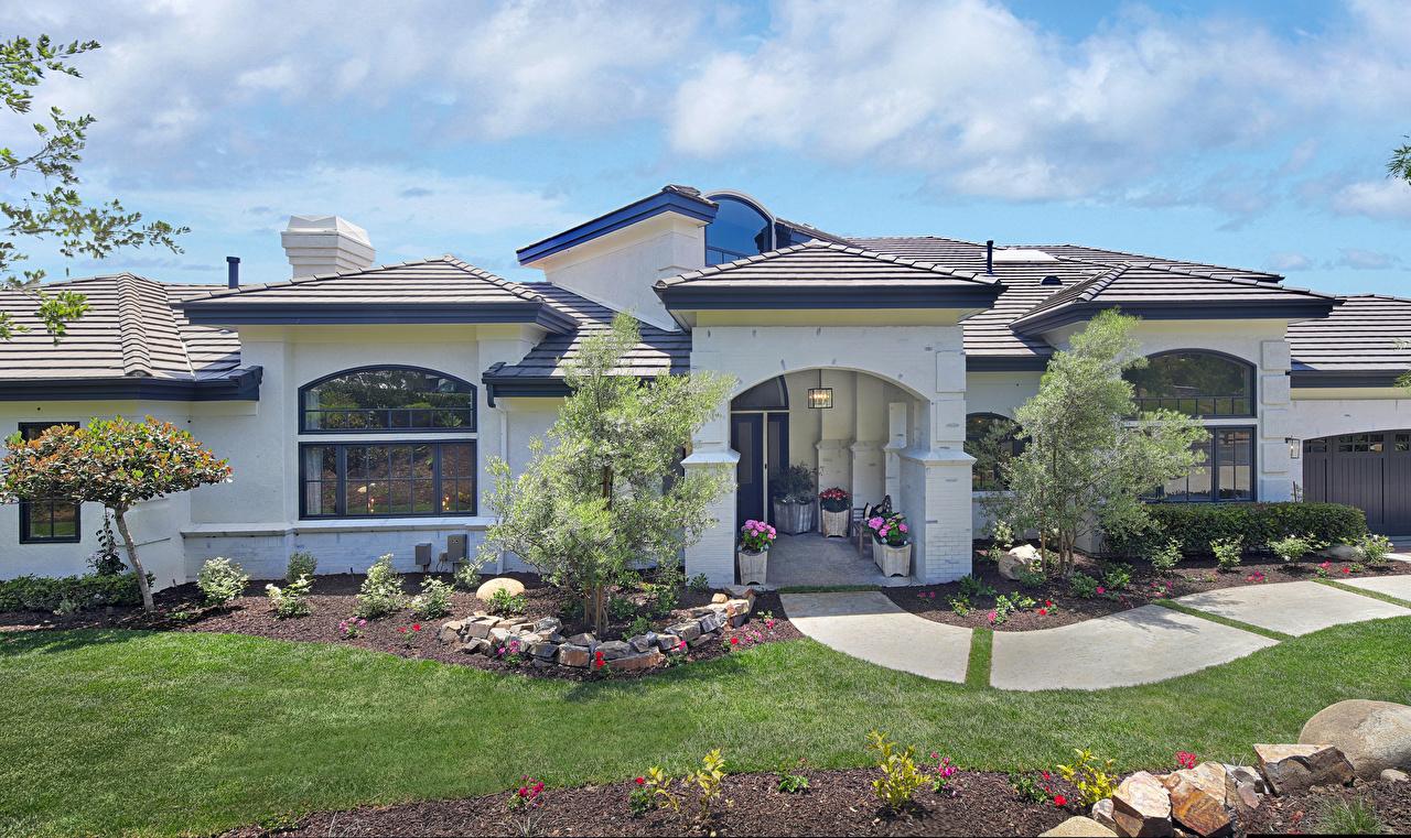、アメリカ合衆国、住宅、San Juan Capistrano、カリフォルニア州、邸宅、デザイン、芝、建物、都市、
